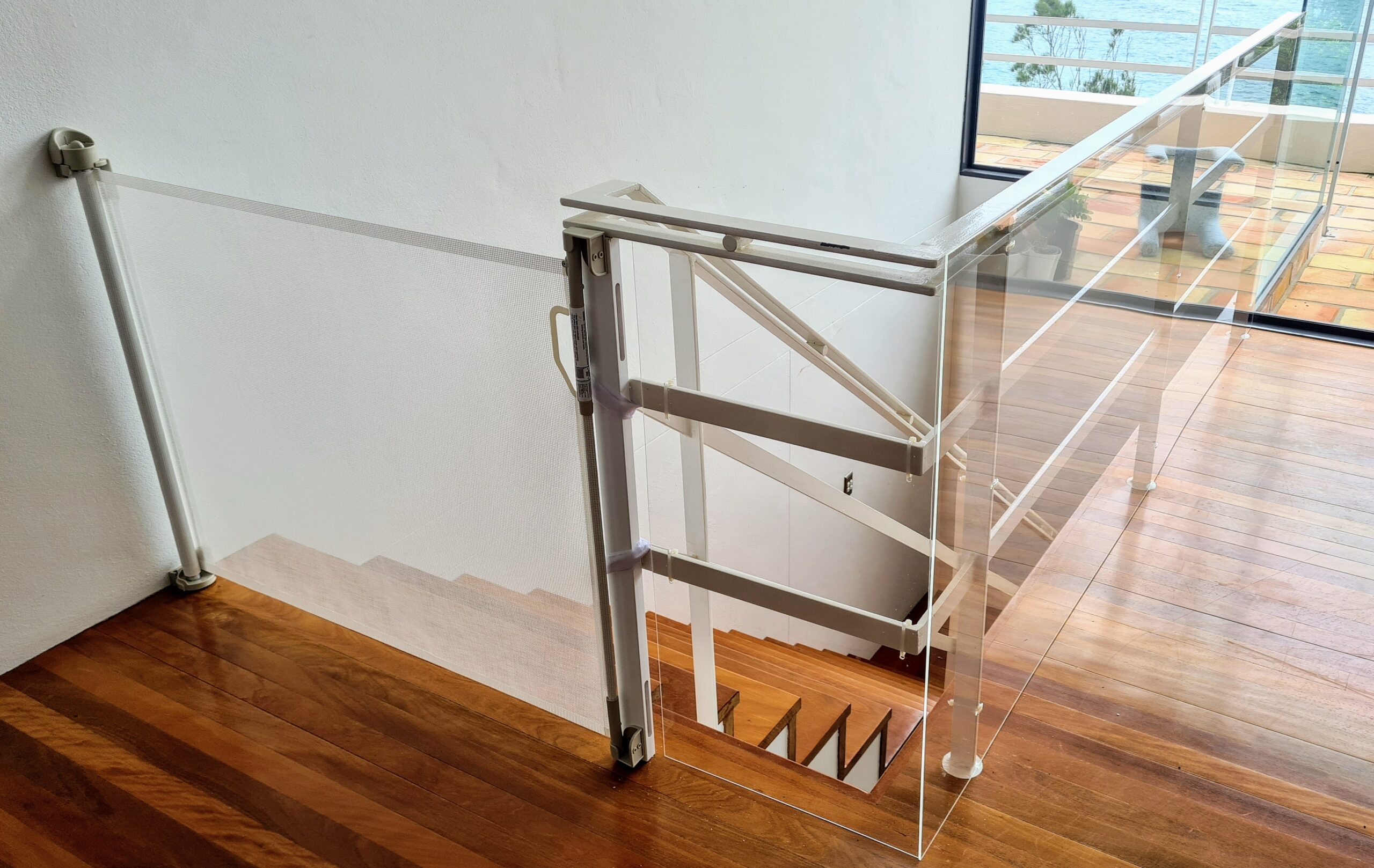 Perspex panels for stairs