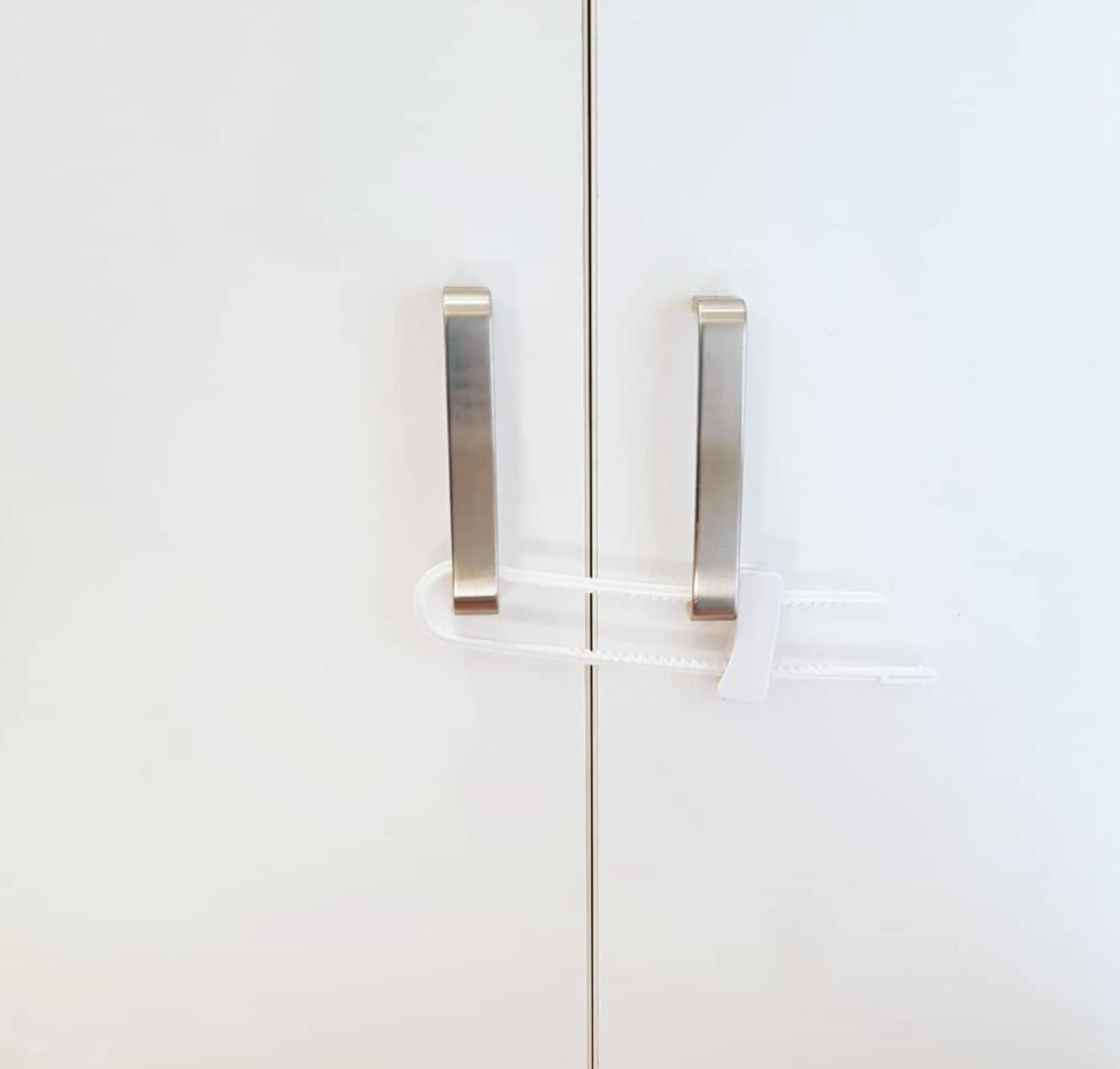 Baby proofing sliding cabinet locks